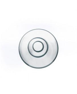 Plaqueta, silicona, redonda, 9 mm. 10 Un.