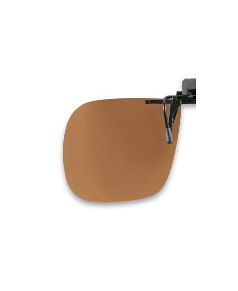 Suplemento pinza abatible, marrón, polarizado 60 x 52 mm