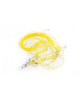 Cordón silicona, amarillo 12 Un.