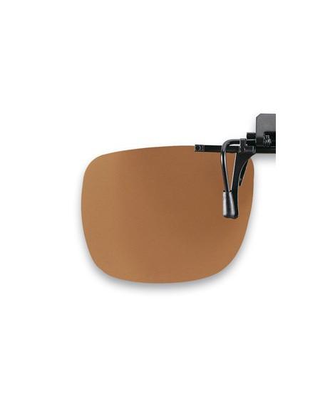 Suplemento pinza abatible, marrón, polarizado 54 x 36 mm