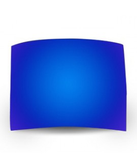 Lámina Espejo Azul Polarizada