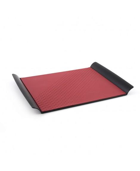 Bandeja presentación producto negra/roja