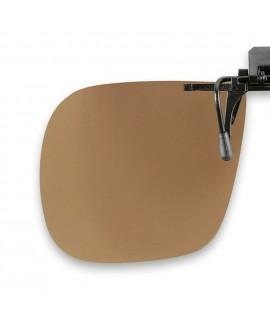 Suplemento pinza abatible, marrón, polarizado