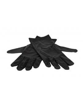 Guantes microfibra, negro, 28 cms, 1 par