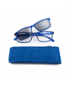 Gafa de lectura +2.50 dioptrias con clip solar Squared Azul