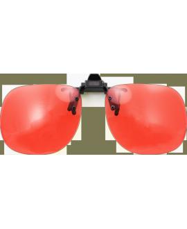 Clip abatible baja visión rojo 550