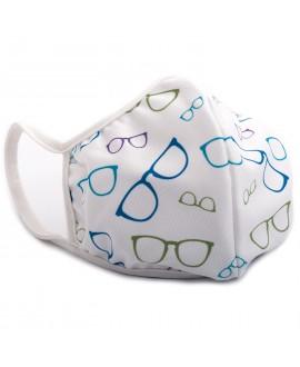 Máscara microfibra gafa azul